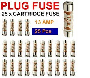Fuses  13amp Domestic Plug x 25 Fuses 13amp Cartridge Fuse x 25 Fuses
