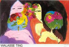 ASIAN ART PRINT - Little Whisper by Walasse Ting 38x26 Original Poster
