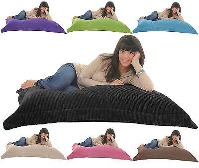 SOFT & SNUGLY CORD Giant Beanbag Floor Cushion Chair Bed Lounger Bean Bag Gilda