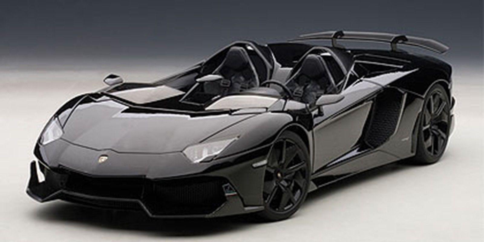 Autoart Lamborghini Aventador J Negro 1:18  Super BONITA