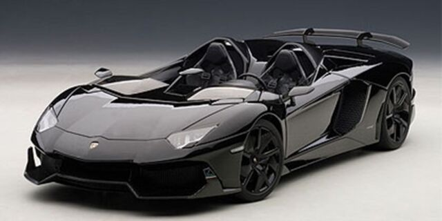 Autoart 1 18 Lamborghini Aventador J Black For Sale Online Ebay