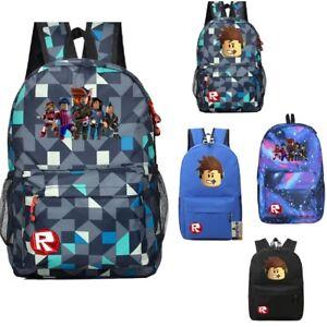 074f327ef34 Image is loading 2018-UK-Roblox-Backpack-Kids-School-Bag-Students-