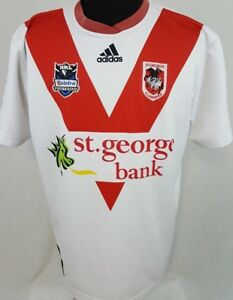 bec6c9a53 Details about St George Illawarra Dragons NRL Telstra Premiership Rugby  Adidas Jersey Size XL