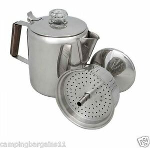 Camp-Coffee-Percolator-Pot-9-Cup-Stainless-Steel-Camping-Kitchen-Kettle-Picnic
