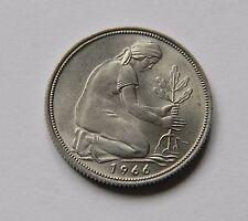 BRD: 50 Pfennig 1966 F, J. 384, stempelglanz, TOLLES STÜCK !!!
