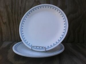 Image is loading Corelle-Dishes-Snowflake-Blue-Large-Dinner-Plates-Set- & Corelle Dishes Snowflake Blue Large Dinner Plates Set Of 3   eBay