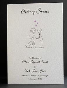 Image Is Loading 10 Personalised Order Of Service Front Covers 2