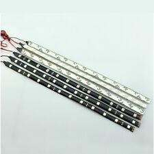 2x tiras Led chip 5050  15 SMD 30 cm blanco impermeables Car Auto flexibles
