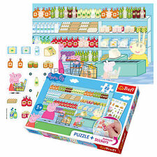 Trefl 35 Piece Jigsaw Puzzle +Removable Stickers Peppa Pig Kids Unisex Play Game