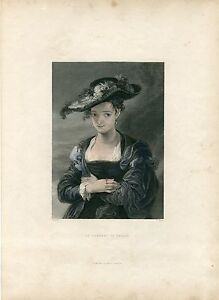 The-Chapeau-Of-Paille-Engraved-By-C-Marr-On-Artwork-Of-Rubens