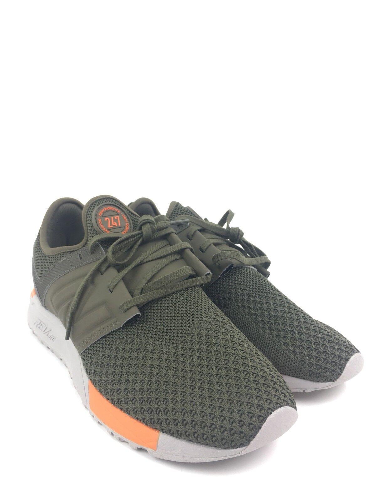New Balance 247 Olive Winter Knit Running Shoes Men's Size 9M MRL247KO A219
