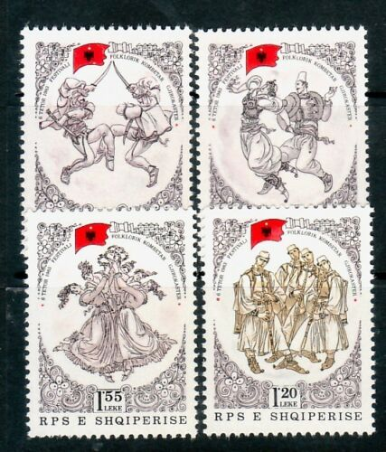 ALBANIA Sc 2082-5 NH ISSUE OF 1983 - DANCE