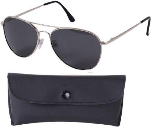 Military Aviator Pilot Sunglasses AF /& NAVY Style Polarized Sunglasses w// Case