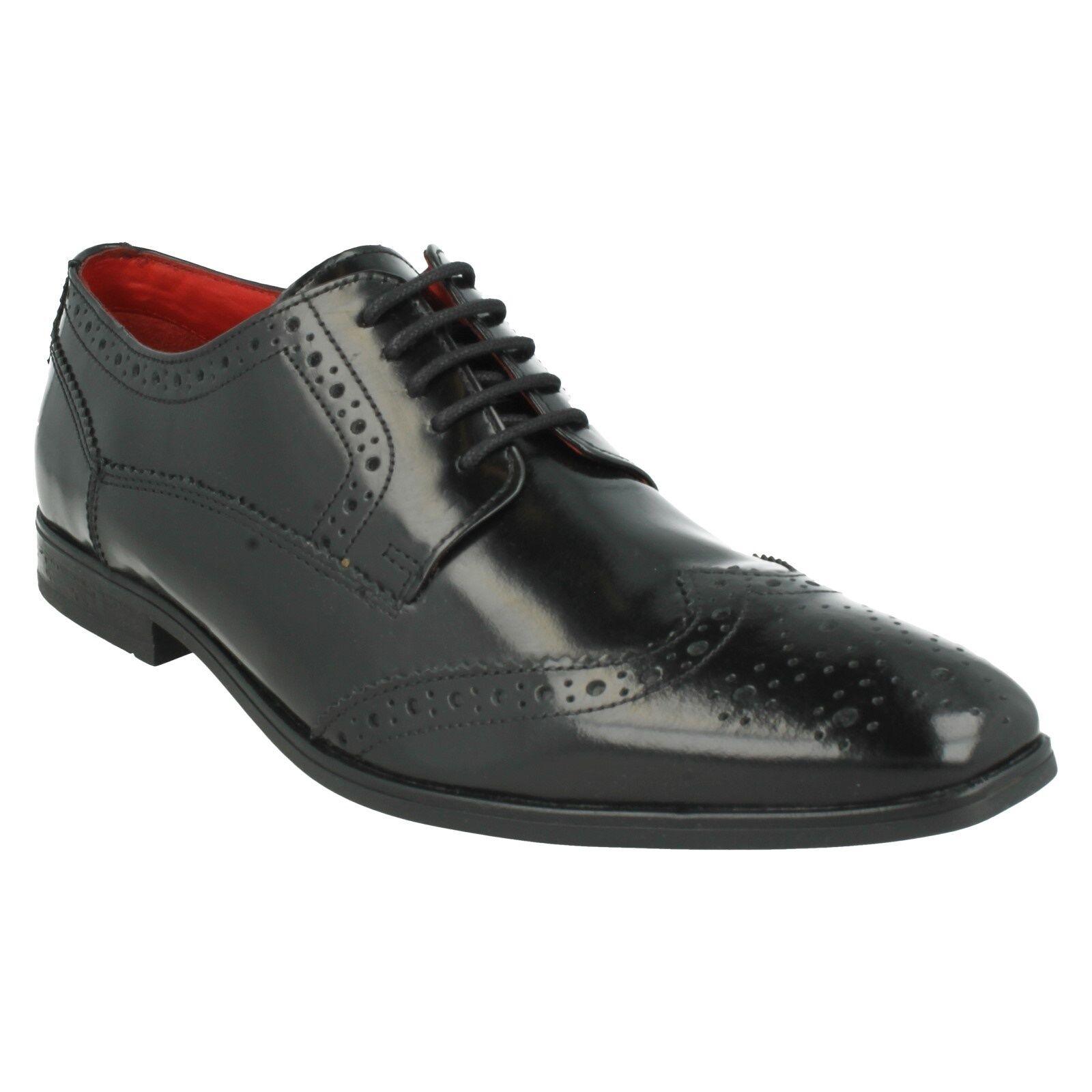 Base London Hommes Harold Lacet Très Brillant Noir Chaussures richelieu mariage