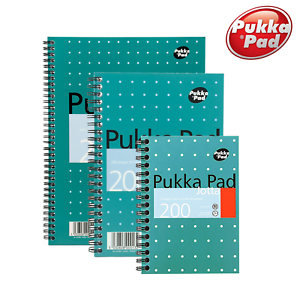 Pukka Pad Metallic A4 A5 A6 Jotta Ruled Notebook 200 Page 80gsm Quality Notepad