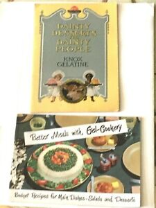 TWO-KNOX-GELATINE-BOOKLETS-Dainty-Desserts-For-Dainty-People-1925-amp-1952