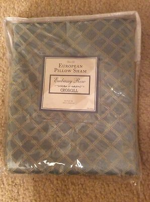 2 CROSCILL NAPOLEON EURO PILLOW SHAMS NEW