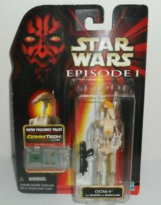 Star Wars Episode I Oom-9 with Blaster Action Figure NiB CommTech b2