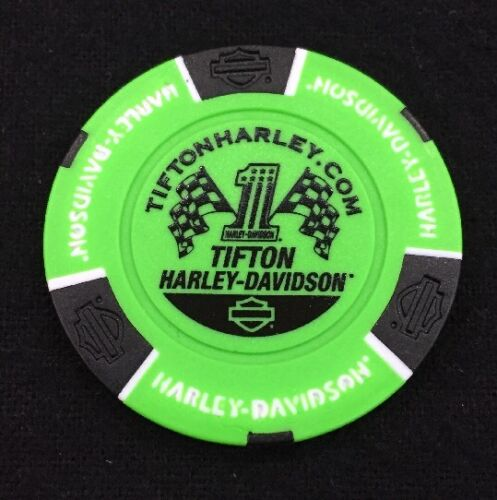 Georgia Harley Davidson Poker Chip Neon Green /& Black Tifton