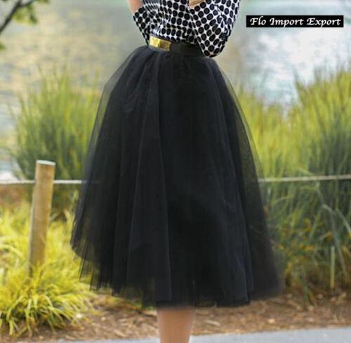 Gonna Midi in Tulle Donna Ragazza Woman Girl Tulle Midi Skirt 130041