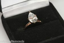 3.00 PEAR SHAPE ENGAGEMENT RING 14 KARAT ROSE Gold