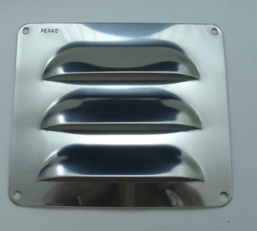 """Perko 033503ASTS Stainless Steel Louver Vent 4/"""" x 3.5/"""" 21041"""
