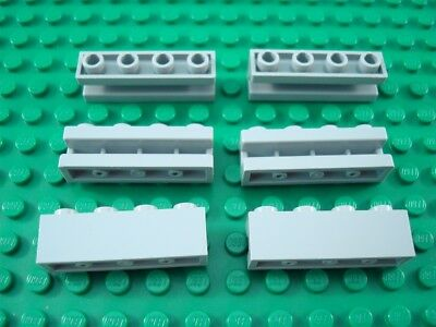 LEGO Lot of 4 Light Bluish Gray 1x4 Creator Door Rail Groove Brick Pieces