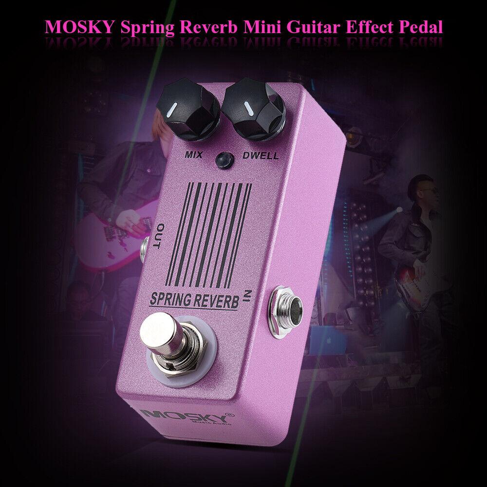 MOSKY Guitar Effect Pedal Bottomless Depth Spring Reverb Sound MIX DWELL Button