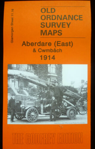 OLD ORDNANCE SURVEY MAPS ABERDARE EAST /& CWMBACH GLAMORGAN  1914 SHEET 11.16