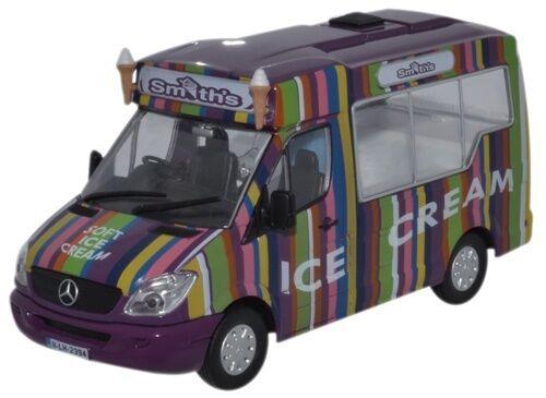 Oxford WM006 PKW Mercedes Ice Cream Smiths Eiswagen 1//43