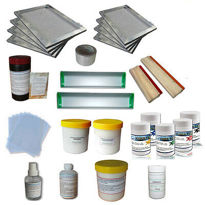Screen Printing Materials Kit 5 Color Pigment Test Package Household DIY Tools