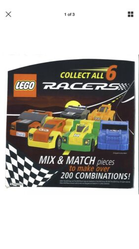 Set Of 4 New In Package. 2009 General Mills Lego Pull-Back Racers