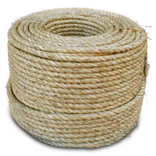 CWC  3-Strand Natural Fiber Rope - 5 16  x 850 ft.  authentic quality