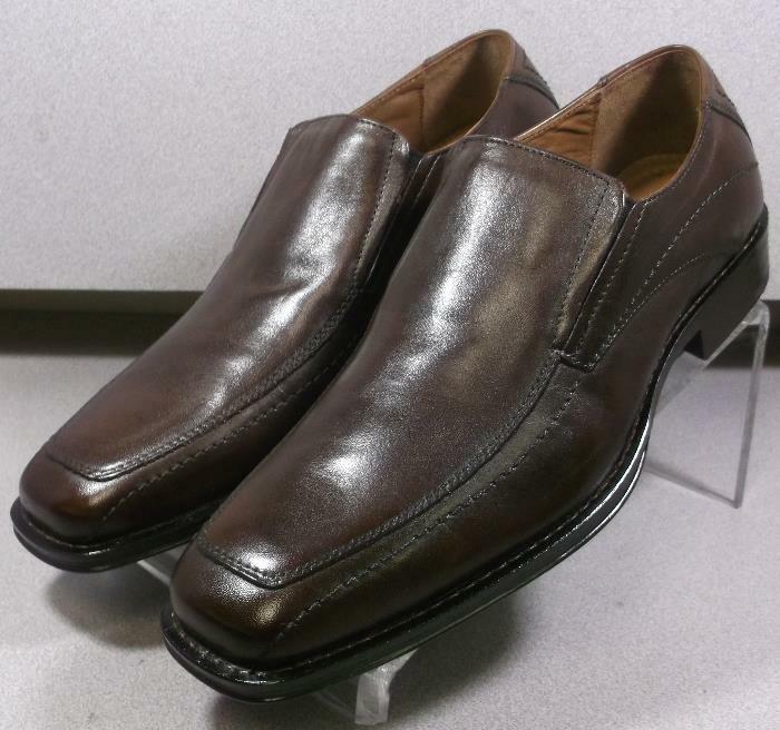 206240 ES50 Chaussures Hommes Taille 12 M en cuir marron à enfiler Johnston & Murphy