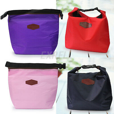 Small Thermal Cooler Insulated Lunch Zipper Bag Bento Picnic Tote Storage Pouch
