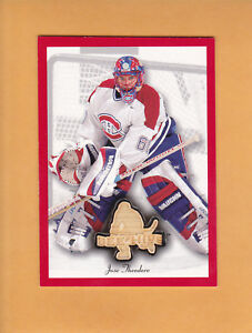 JOSE-THEODORE-2003-04-BEE-HIVE-STICKS-RED-BORDER-RE-4-MONTREAL-CANADIENS