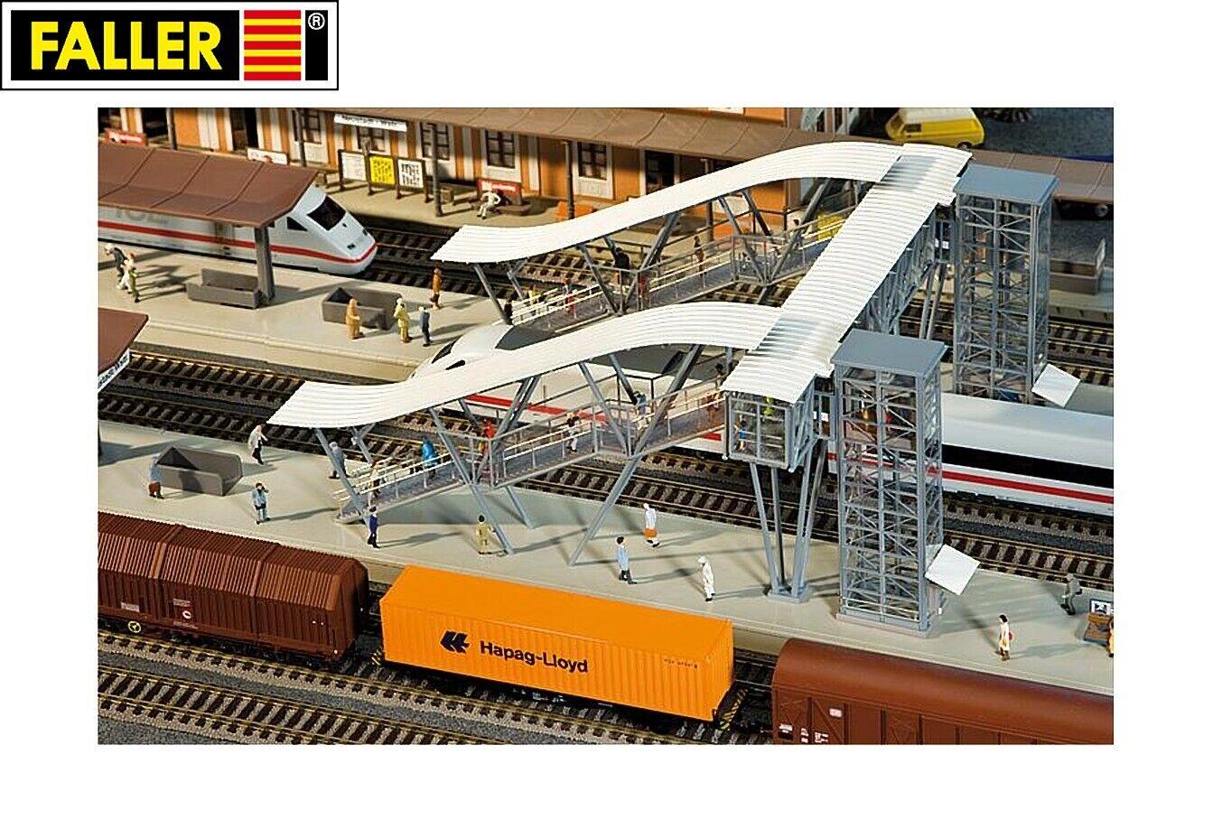 Faller H0 120110 Puente de Plataforma Neustadt   Ruta Del Vino - Nuevo + Ovp