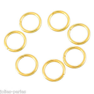 20PCs Stainless Steel Circle Split Rings  Gold Plated Jewelry Findings DIY 4mm