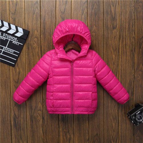 New Kids Girls Boys Super Warm Cotton Down Jacket Hooded Coat Snowsuit Outwear