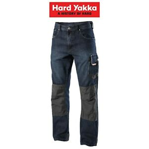 Mens-Hard-Yakka-Legends-Denim-Work-Jeans-Cargo-Pants-Heavy-Duty-Tradie-Y03900