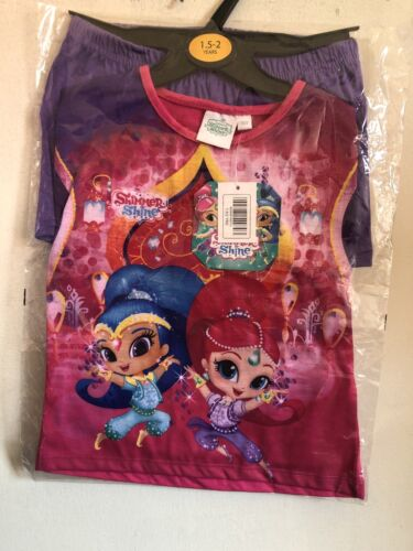 Girls Short Pjamas Shimmer And Shine 18-24 Months Lovely Quality Gush is Pink