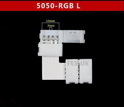 RGB LED Strip Leiste  L T Kreuz Form Verbinder Schnellverbinder Eckverbinder SMD