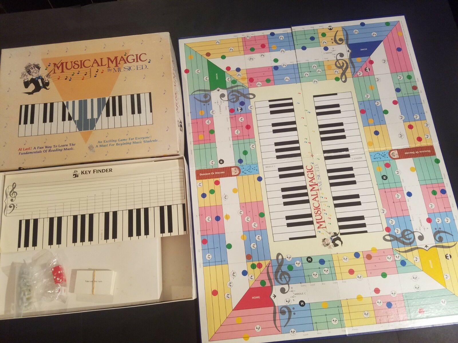 1988 Musical Magic Board Game By Music Ed