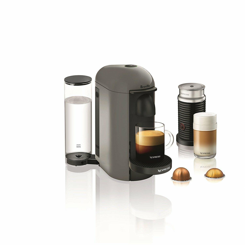 Nespresso greenuoplus Espresso Coffee Maker with Milk Fredher by Breville, GREY