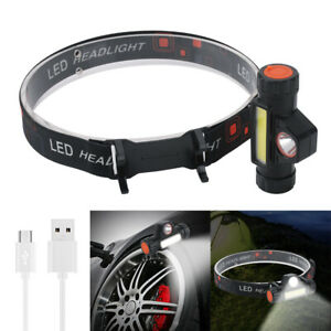 160-Head-COB-LED-Flashlight-Head-Torch-Lamp-Magnet-Work-Light-USB-Rechargeable