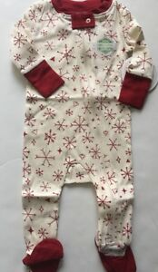 1ad11bf71ead Burts Bees Baby Boy Girl Coverall Pajamas Size 3 6 12 18 24 Months ...