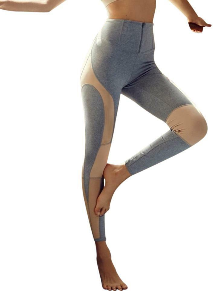 Free People Mesh Mirage Leggings XSmall 0 2 Grey Exercise Dance Ballet Workout