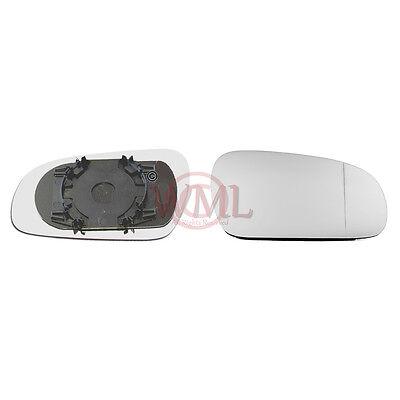 VOLKSWAGEN FOX 06-/>10 DOOR MIRROR GLASS SILVER ASPHERIC,NONHEATED/&BASE,RIGHTSIDE