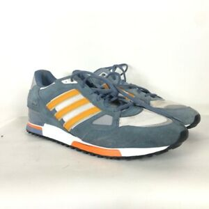 Details about Adidas ZX 750 Mens Running Shoes Blue Orange Stripe Suede Lace Up Low Top 13