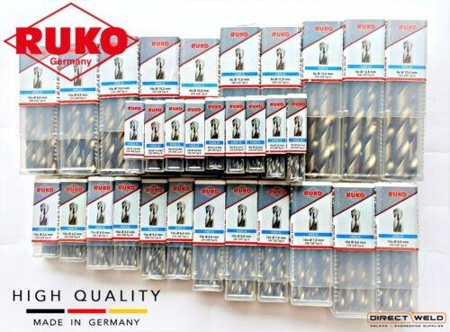 RUKO Twist Drill Bits HSS-G 13.0mm please choose HIGH QUALITY Size: 1.0mm